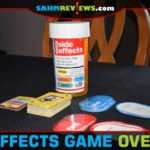 Sometimes it's the packaging that gets us to choose one game over another. Side Effects by Games Adults Play is a perfect example of a thematic game box! - SahmReviews.com