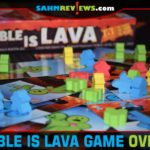 A flick of the cards can keep your meeples on safe ground or send others to their doom in The Table is Lava from R&R Games. - SahmReviews.com