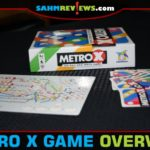 Feel the anxiety of mass transit during a trip to your game table in Metro X, a flip and write train-themed game from Gamewright. - SahmReviews.com