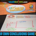 Take turns drawing shapes on an image for the guesser to figure it out in Draw Your Own Conclusions cooperative drawing game from Social Sloth Games. - SahmReviews.com