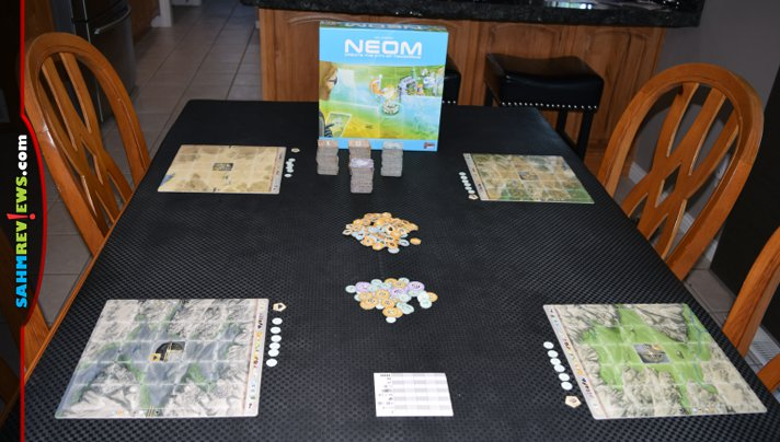 Think you can plan out an innovative city of tomorrow? Give it a shot and play Neom City-Building game from Lookout Games. - SahmReviews.com