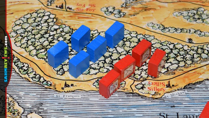 Games that teach while being entertaining are rare. Coumbia Games has a whole line of block wargames that do both. This time we're taking a look at Quebec 1759! - SahmReviews.com