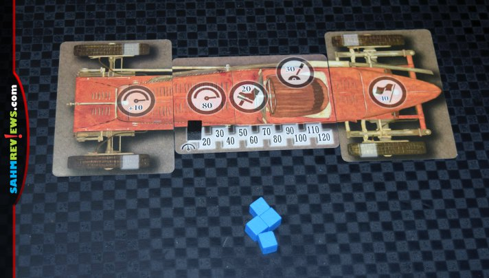 Vintage Racers by Mr. B Games tried to pack too much into the tiny box. With a little more attention to detail, this could have been a decent game. - SahmReviews.com