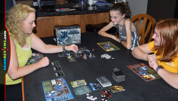 Take on roles from Aliens movies and work together to battle Xenomorphs in Aliens: Bug Hunt cooperative board game from Upper Deck Entertainment. - SahmReviews.com