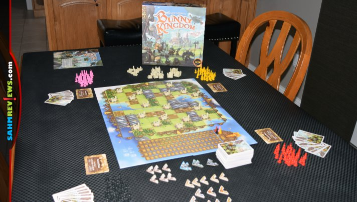 Have a hare-raising good time during game night with Bunny Kingdom board game from IELLO. Easy to learn, it's great for family night! - SahmReviews.com