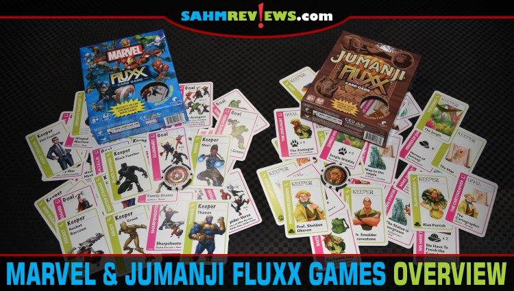 Jumanji and Marvel Fluxx Card Game Overviews
