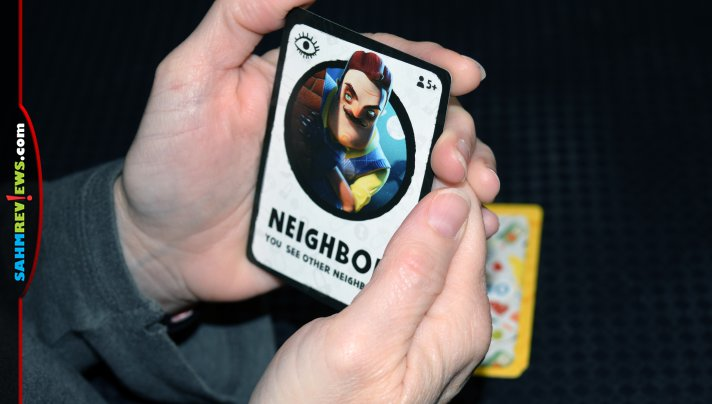 Hello Neighbor: The Secret Neighbor brings the scary guy next door to your table. Find out how Arcane Wonders transformed the app into a social party game! - SahmReviews.com