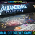 There's been an incident. You've been tasked with communicating with the ghost to determine what happened in Paranormal Detectives from Lucky Duck Games. - SahmReviews.com