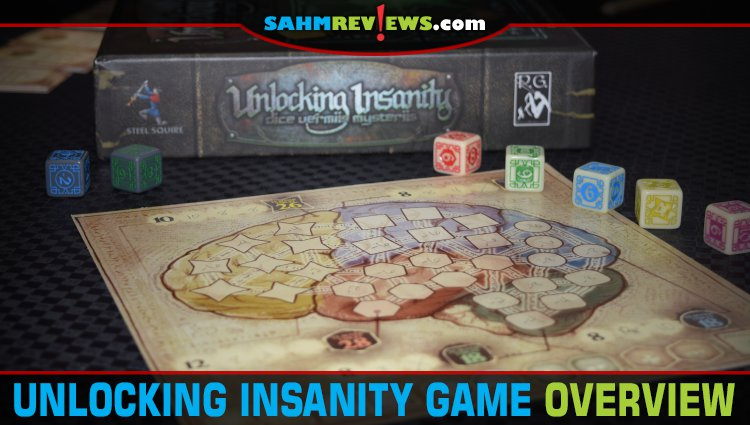 Unlocking Insanity Roll-n-Write Game Overview