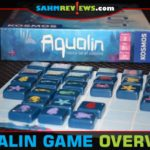 Aqualin is a 2-player strategy game from Thames & Kosmos where opponents are trying to create the largest schools of sea creatures. - SahmReviews.com