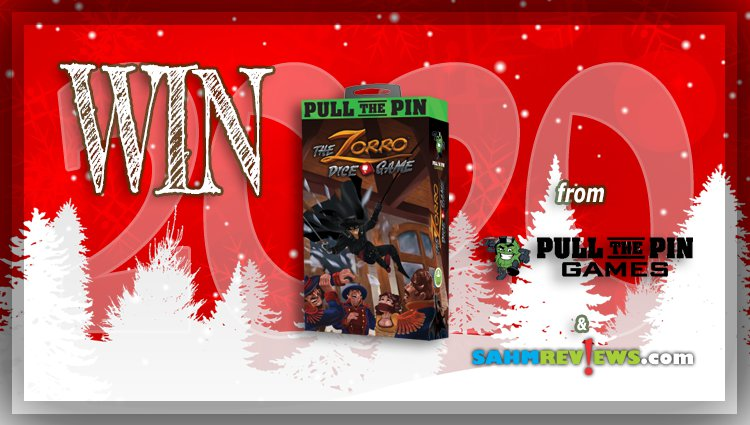 Holiday Giveaways 2020 – The Zorro Dice Game by Pull the Pin Games