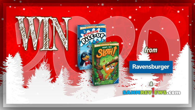 Holiday Giveaways 2020 – Ready, Set, Sloth! & Penguin Pile-Up! Games by Ravensburger