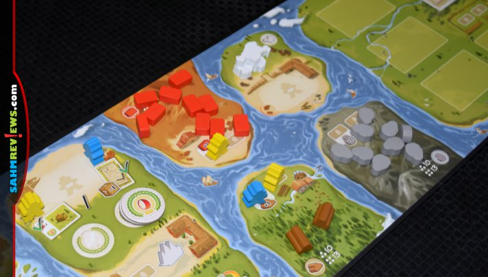 You have to be careful not to travel recklessly downstream or you may find yourself losing valuable resources in The River board game from Days of Wonder. - SahmReviews.com