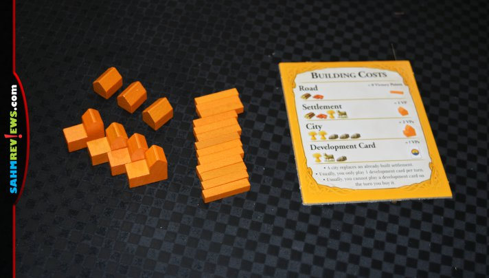 Catan 25th Anniversary Edition from Catan Studio includes custom dice, card sleeves, trays and pieces as well as an expansion for 5-6 players! - SahmReviews.com