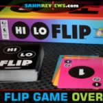 Gamewright's Hi Lo Flip is a colorful addition to our card game collection. It reminded us a little bit of UNO, but different enough to warrant keeping. - SahmReviews.com
