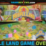 Make your guests happy by purchasing rides and services as you build the best amusement park in Meeple Land board game from Blue Orange Games. - SahmReviews.com