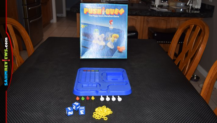 This 80's era game was missing custom dice and we didn't realize it. Fortunately we had a solution for Push Over that is better than the original! - SahmReviews.com