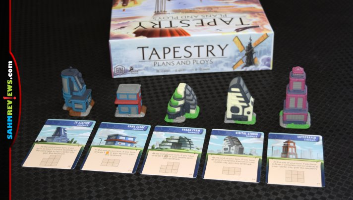 Tapestry board game from Stonemaier Games is an elegant intersection of simplicity and complexity. The new expansion makes it even better! - SahmReviews.com