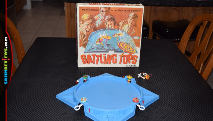 January is the best time to find used games at thrift. We scored a copy of Battling Tops for $1.88 and it was 100% complete! - SahmReviews.com