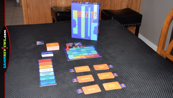 Process of elimination and teamwork are the keys to figuring out the mystery character in Whozit? cooperative guessing game from Gamewright. - SahmReviews.com