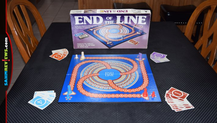 End of the Line struck us as a board game with a cool board. It turned out to be a card game with a fancy scoring track! Read about this week's thrift find! - SahmReviews.com
