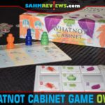 While you technically could hang The Whatnot Cabinet on the wall, this one is a set collection game from Pencil First Games! - SahmReviews.com
