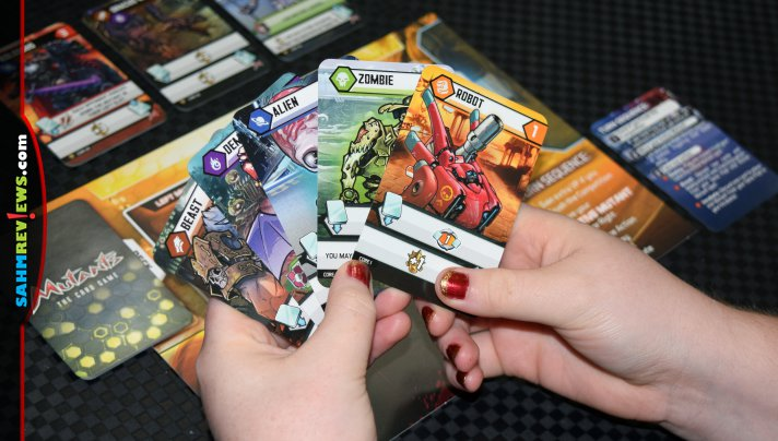 You might think you have all the deck-building games you need in your collection. You should definitely check out Lucky Duck Games' Mutants and make space! - SahmReviews.com