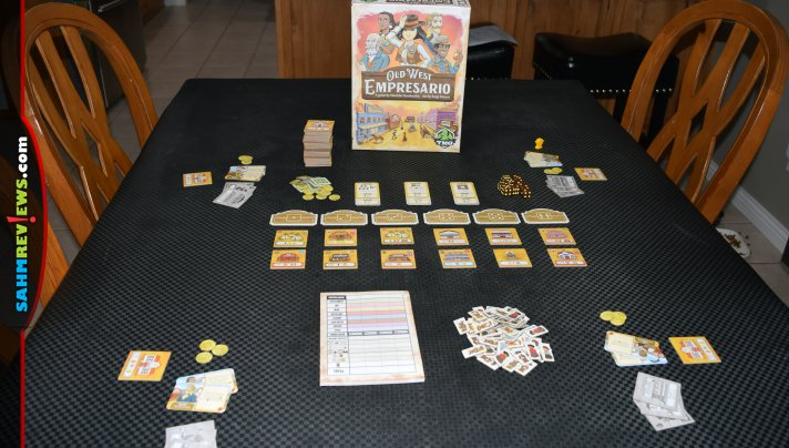 Our Shelf of Shame is one game lighter now that we finally got Old West Empresario by Tasty Minstrel Games to the table. We should have played it sooner! - SahmReviews.com