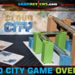 Attempt to build high-rise buildings and connect them with skywalks in Cloud City, a city-building game from Blue Orange Games. - SahmReviews.com