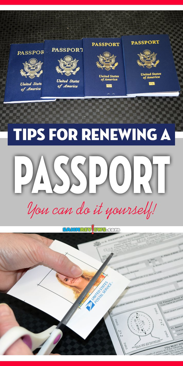 If you plan to travel outside the United States, make sure your passport is current. Use these tips for renewing your passport! - SahmReviews.com