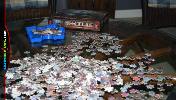 If you enjoy puzzles, it makes sense to have ones that involve your interests. The Gloomhaven jigsaw puzzle from Cephalofair Games is perfect for a gamer! - SahmReviews.com
