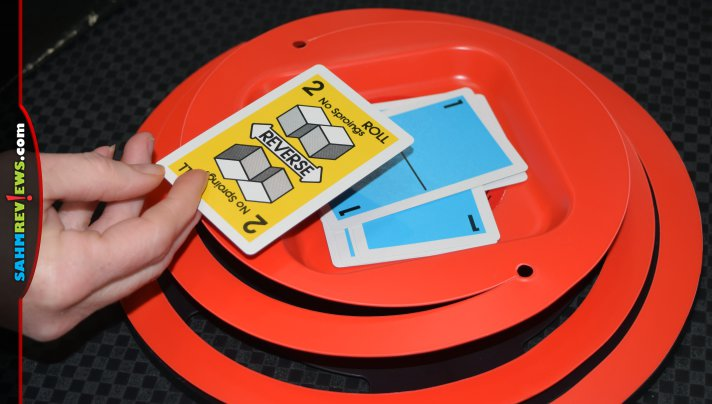 Sproing is another example of how publishers began using plastic to elevate their games. This one literally shoots cards into the air! - SahmReviews.com