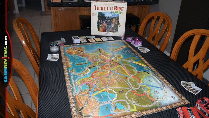 With upgraded components, Ticket to Ride: Europe 15th Anniversary edition from Days of Wonder / Asmodee is fun, functional decor. - SahmReviews.com