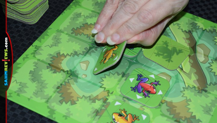 Flip Over Frog from Hub Games has simple rules so it's good for young players, but can be played strategically by seasoned players. - SahmReviews.com