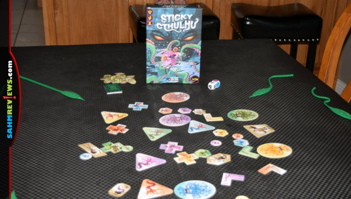 Based on the works of H. P. Lovecraft, Sticky Cthulhu is a dexterity game from IELLO. - SahmReviews.com